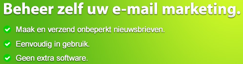 Beheer zelf uw e-mail marketing